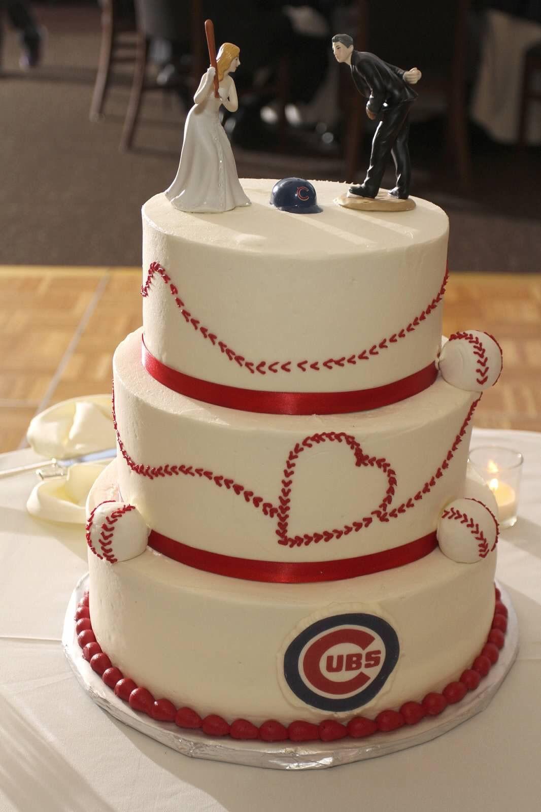 Wedding Cakes Chicago  Chicago Cubs Baseball Wedding Cake