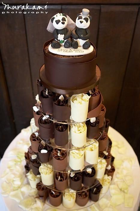 Wedding Cakes Chocolate  Athelhampton House Wedding In Dorset Daniel and Clare
