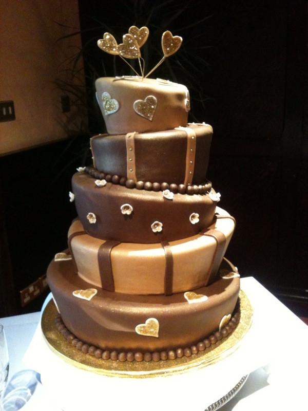 Wedding Cakes Chocolate  Wonky Wedding Cake