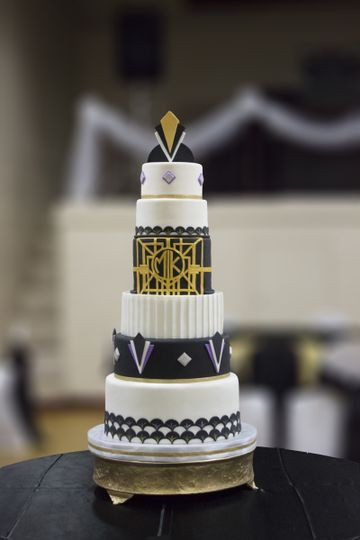 Wedding Cakes Cleveland Ohio  Milk Glass Cakes Wedding Cake Cleveland OH WeddingWire