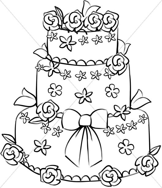 Wedding Cakes Clipart  Christian Wedding Clipart Christian Wedding