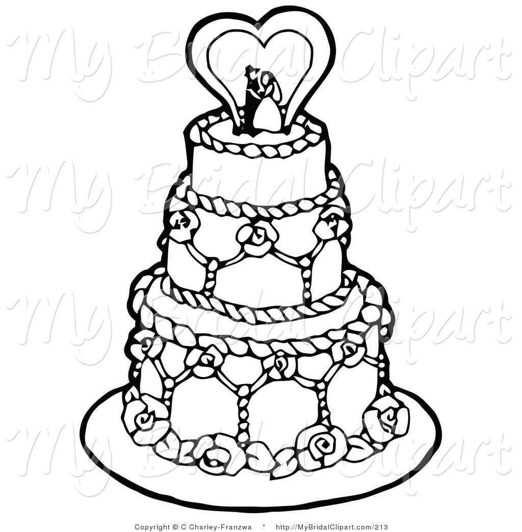 Wedding Cakes Clipart  Wedding Cake Clipart in Black And White – 101 Clip Art