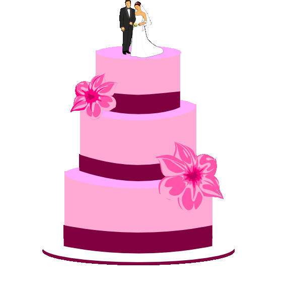 Wedding Cakes Clipart  Wedding Cake With Bride And Groom Clip Art at Clker