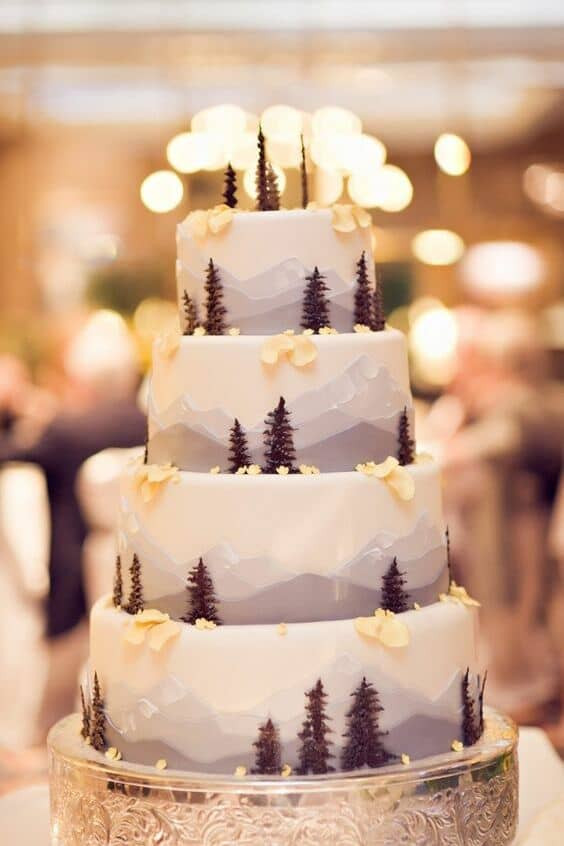 Wedding Cakes Colorado  25 Enchanted Forest Themed Wedding Cakes That Will