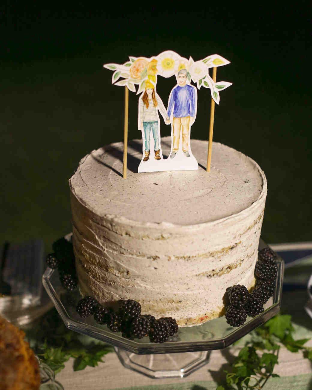 Wedding Cakes Colorado  Lana and Danny's Homespun Colorado Wedding