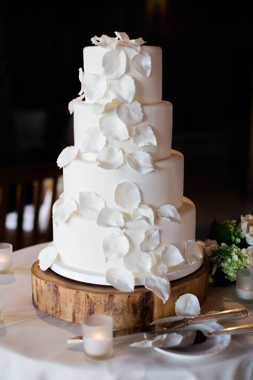 Wedding Cakes Colorado  Sugar Aspen Leaf Decorated Fondant Cake