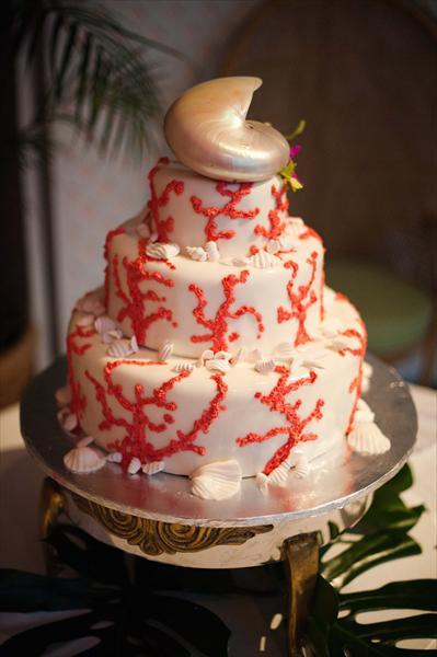Wedding Cakes Coral  Wedding Cakes Red Coral Wedding Cake