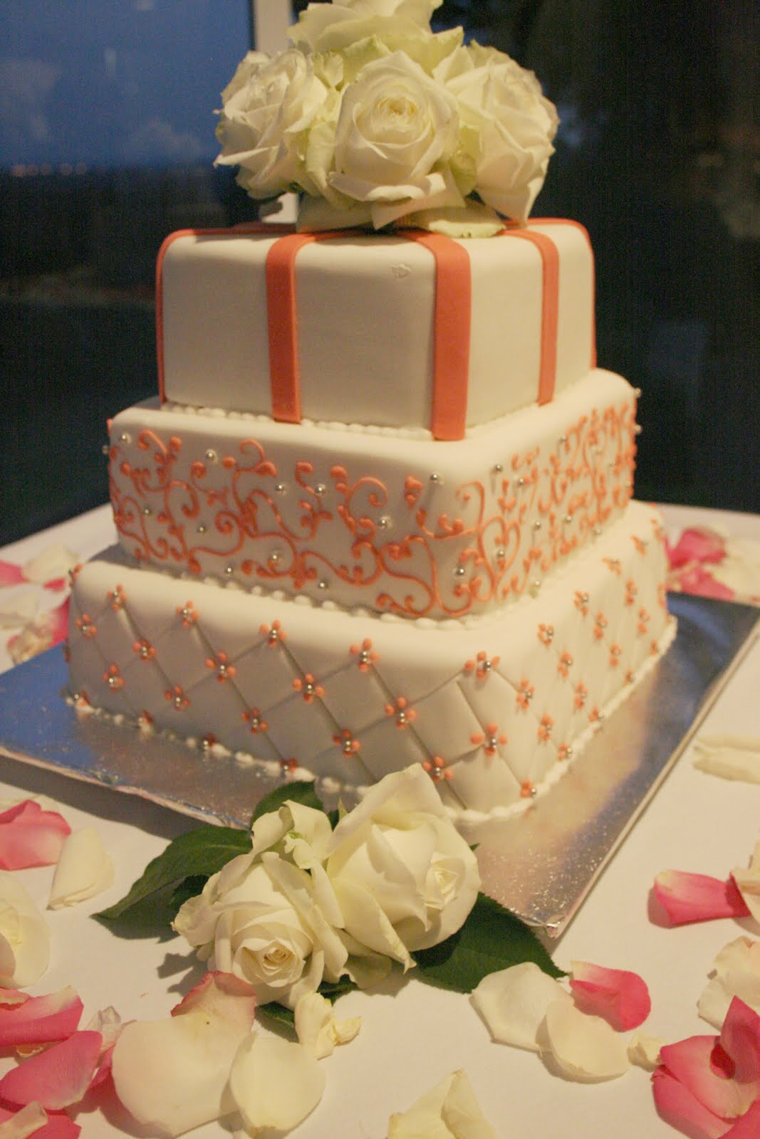Wedding Cakes Coral  Coral Wedding Cakes Reception Project Wedding Forums