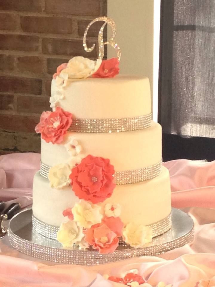 Wedding Cakes Coral  17 Best images about Navy coral wedding on Pinterest