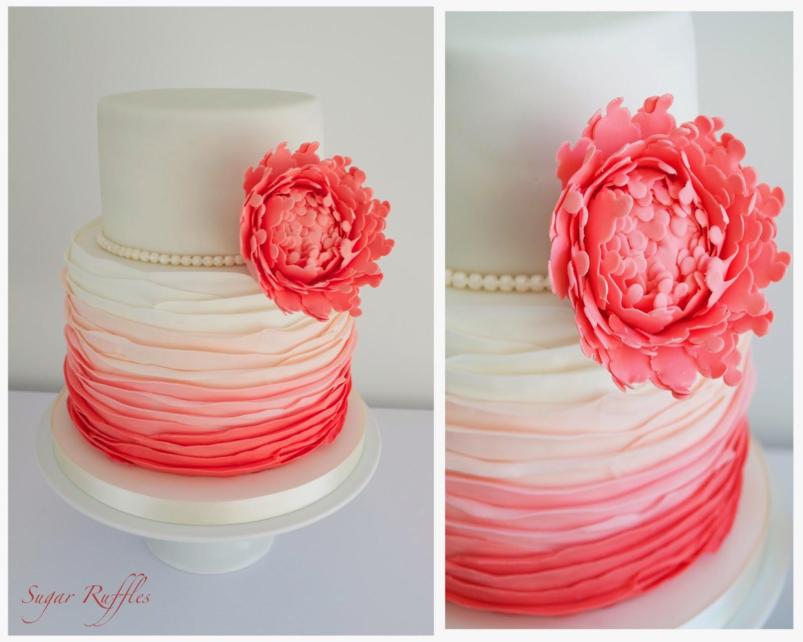 Wedding Cakes Coral  Sugar Ruffles Elegant Wedding Cakes Barrow in Furness
