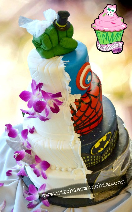 Wedding Cakes Dc  super hero marvel dc promise wedding cake las vegas