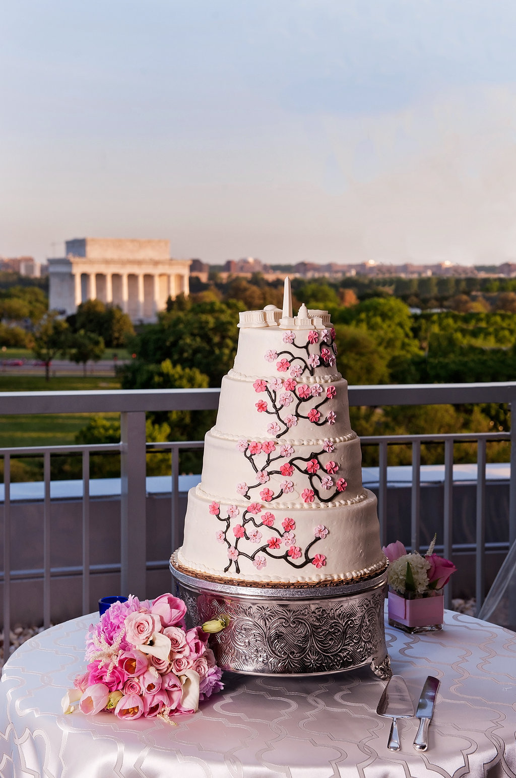 Wedding Cakes Dc  Elegant Washington DC Themed Spring Wedding Reception