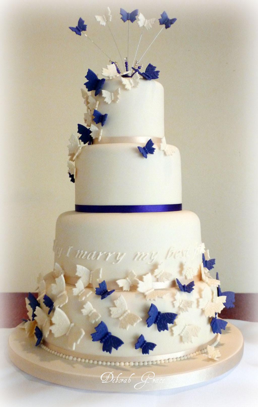 Wedding Cakes Decor  Butterfly Wedding Cakes Decoration Wedding Cake Cake