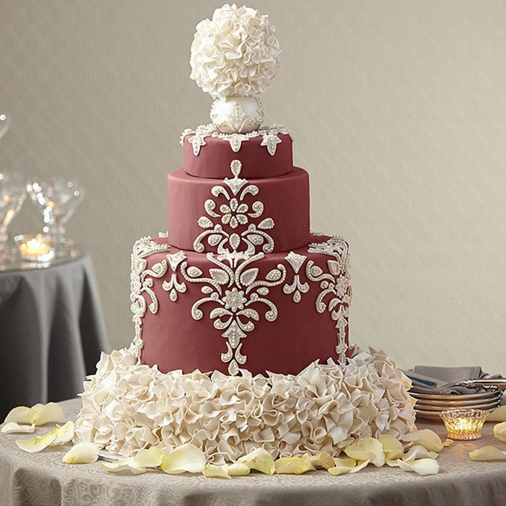 Wedding Cakes Decor  Wedding Cake in Marsala