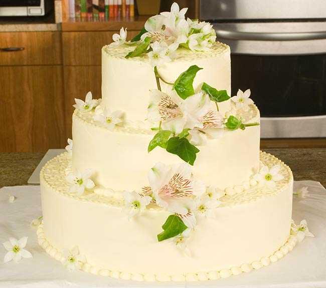Wedding Cakes Decorated  Decorating A Wedding Cake