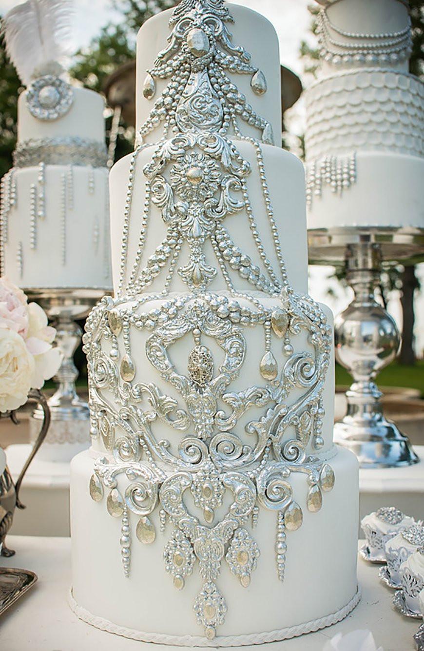 Wedding Cakes Decorations  Silver Wedding Cake Decorations