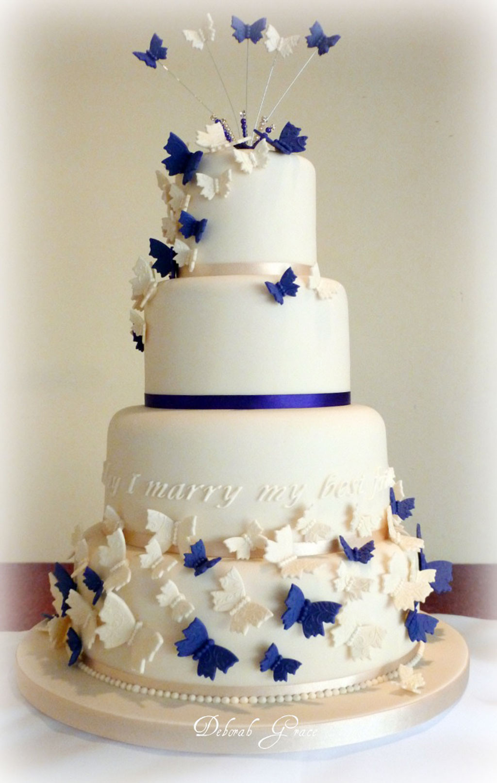 Wedding Cakes Decorations Ideas  Butterfly Wedding Cakes Decoration Wedding Cake Cake