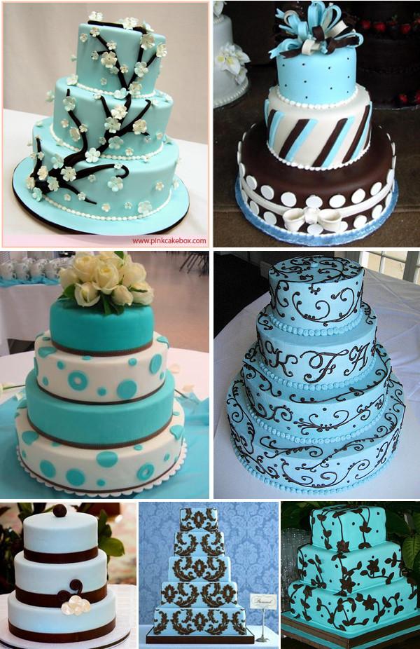 Wedding Cakes Decorations Ideas  Wedding Cakes Ideas Latest Blue Wedding Cakes