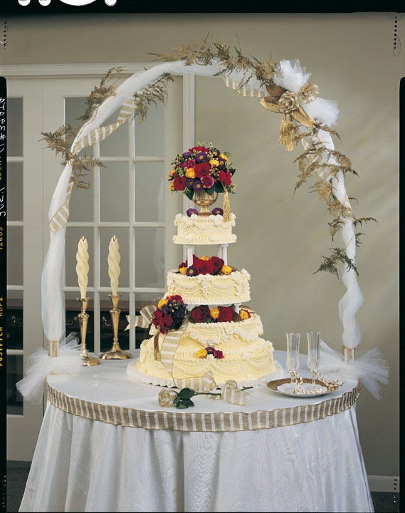 Wedding Cakes Decorations Ideas  Wedding cake table decorations idea in 2017