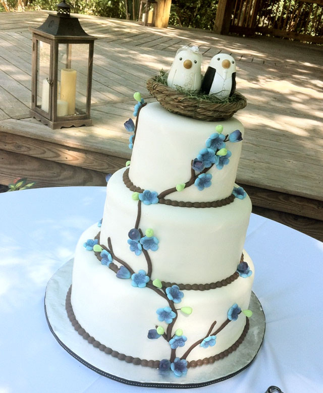 "Wedding Cakes Destin Fl  ""Sarah"" Birds nest branches & flowers wedding cake in"