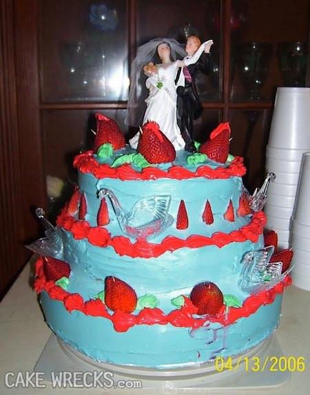 Wedding Cakes Disasters  Cake Wrecks Home Wedding Is Believing