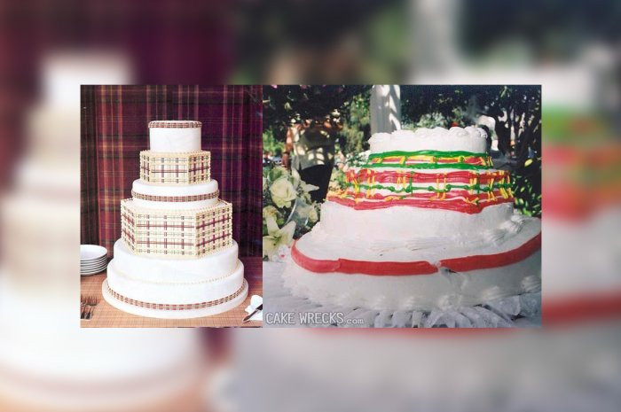 Wedding Cakes Disasters  Squashed Cake from 15 Worst Wedding Cake Disasters The