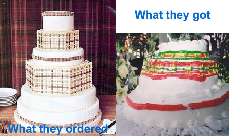 Wedding Cakes Disasters  Wedding cake disasters guaranteed to make you weep and