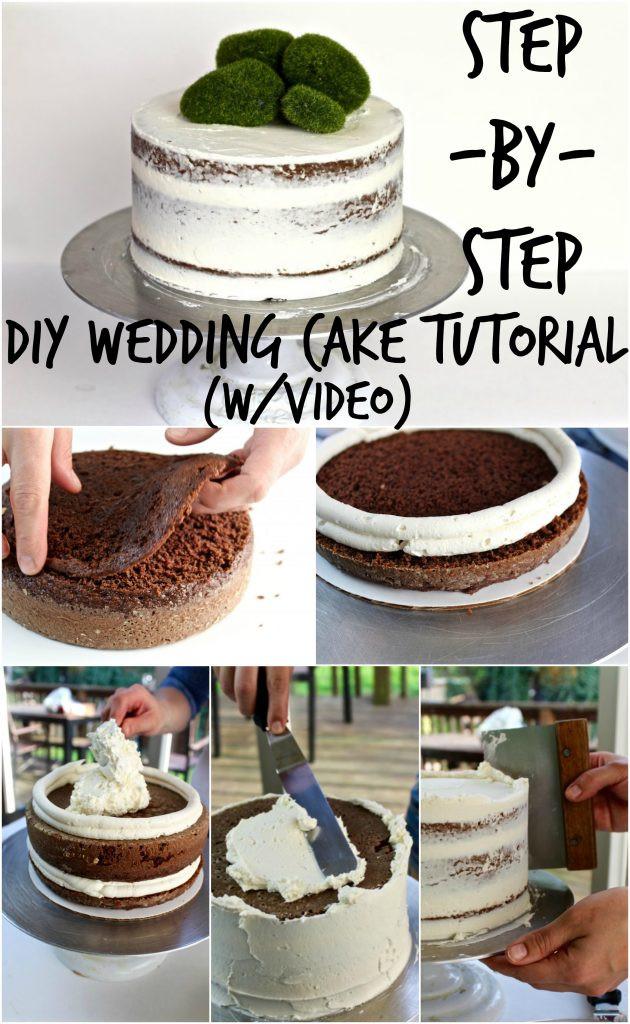 Wedding Cakes Diy  DIY Wedding Cake Tutorial Sweet Somethings