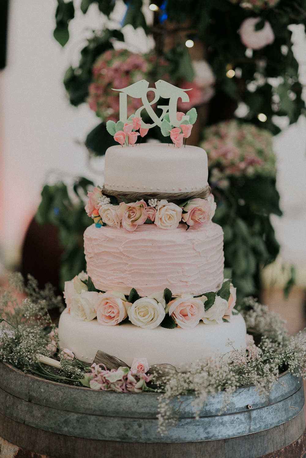 Wedding Cakes Diy  Outdoor DIY Marquee Wedding with Lace Sottero & Midgley Gown