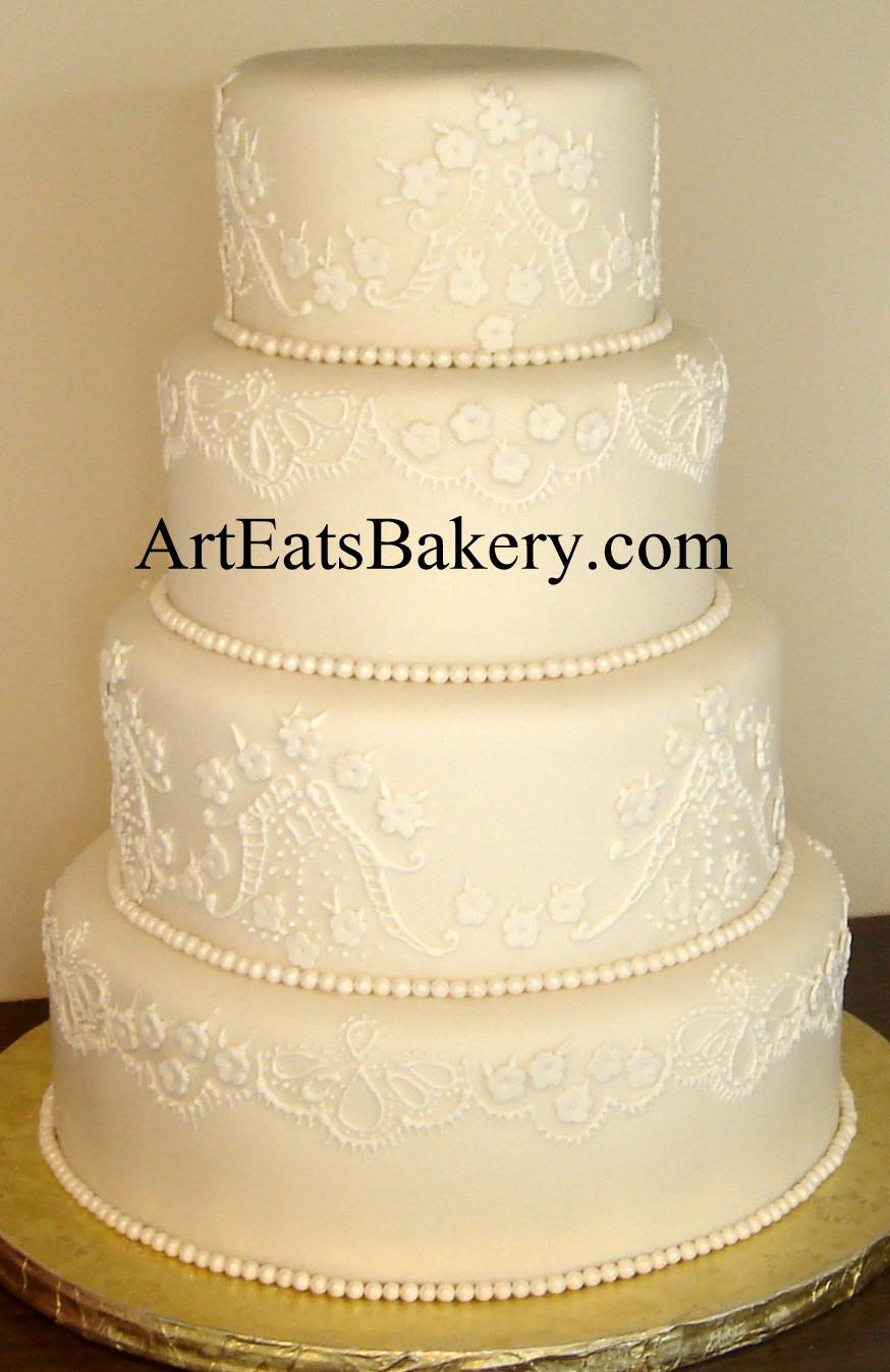 Wedding Cakes Elegant  Art Eats Bakery custom fondant wedding and birthday cake