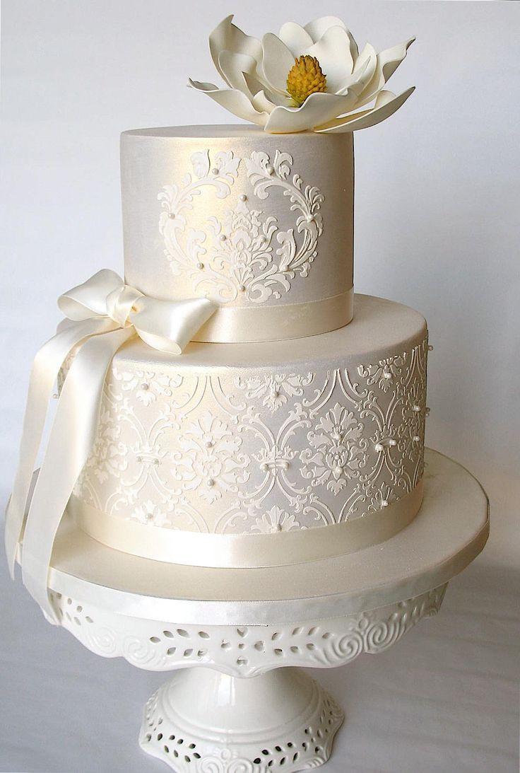 Wedding Cakes Elegant  Simple Elegant Wedding Cakes Wedding and Bridal Inspiration