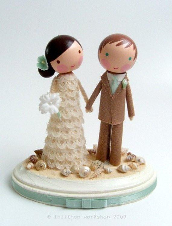 Wedding Cakes Figures  custom beach wedding cake topper
