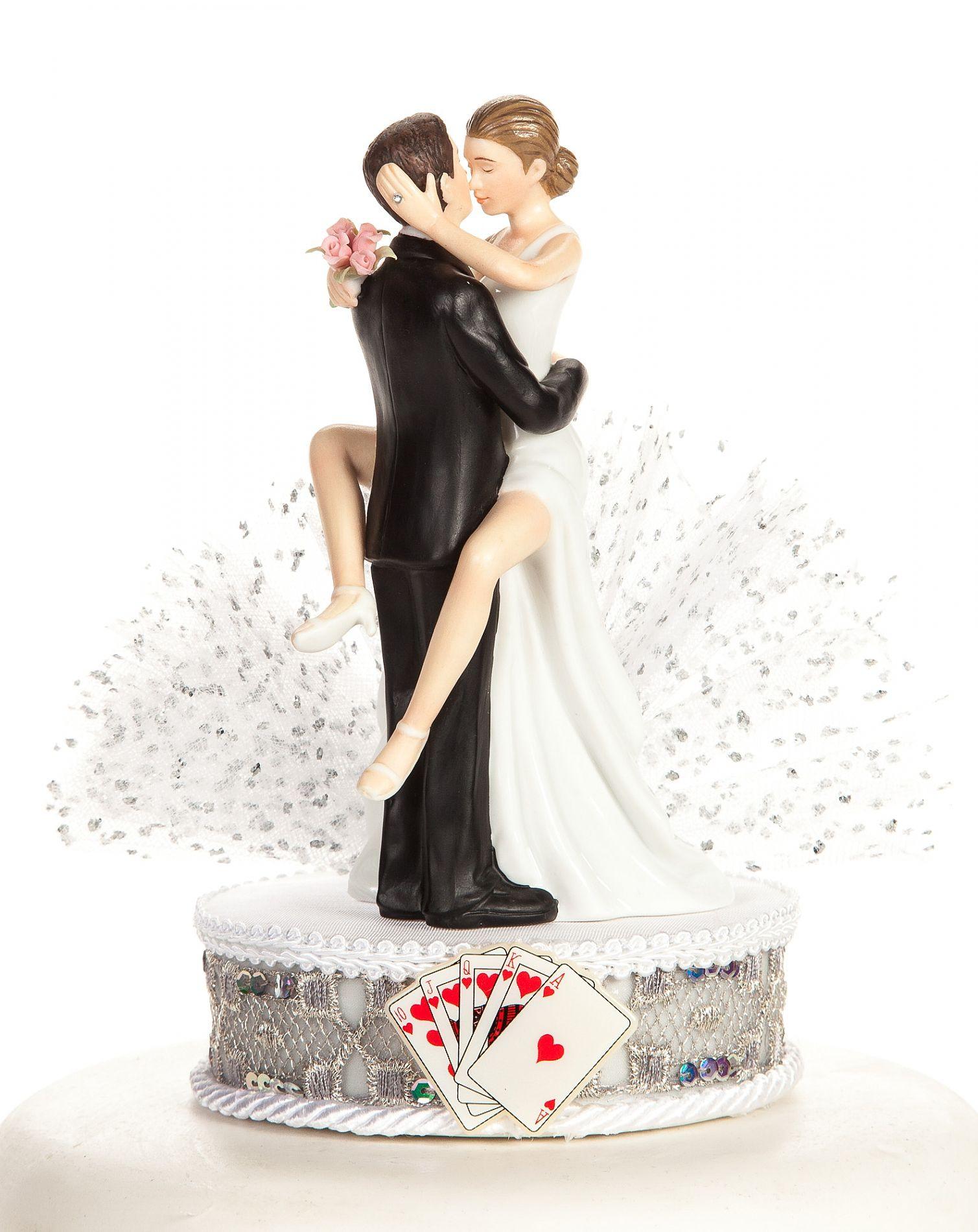 Wedding Cakes Figures  Funny y Las Vegas Wedding Cake Topper