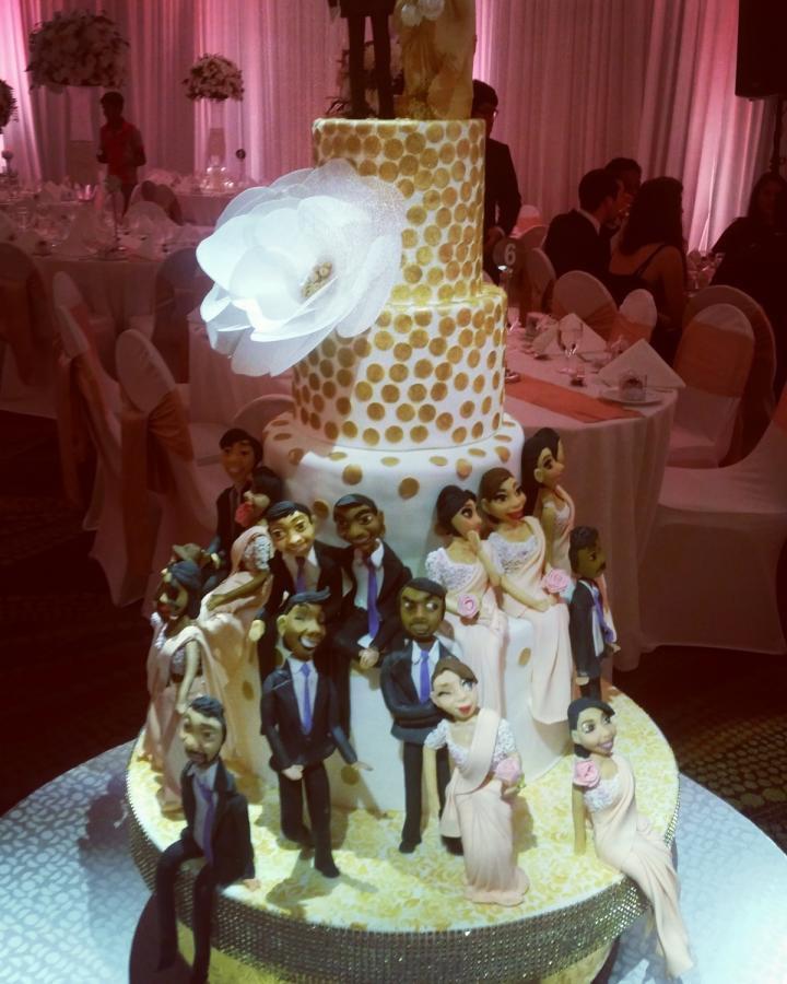 Wedding Cakes Figures  Wedding cake with figurines cake by Savyscakes CakesDecor