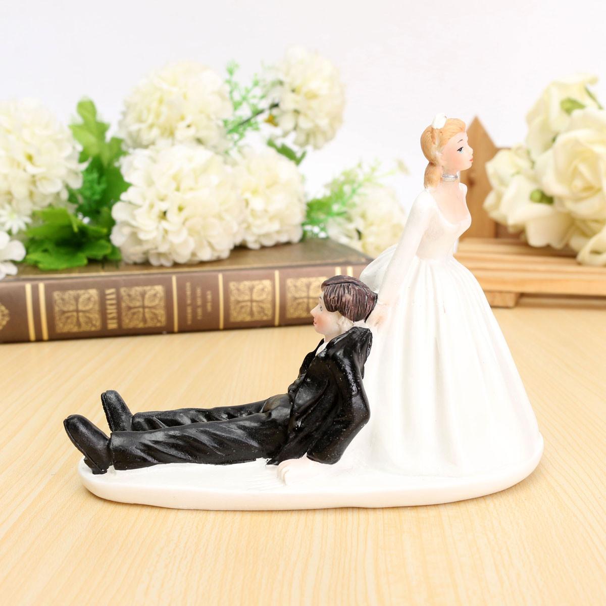 Wedding Cakes Figures  ROMANTIC FUNNY WEDDING CAKE TOPPER FIGURE BRIDE GROOM