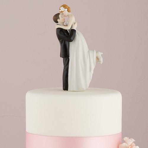 Wedding Cakes Figurines  True Romance Couple Figurine Confetti