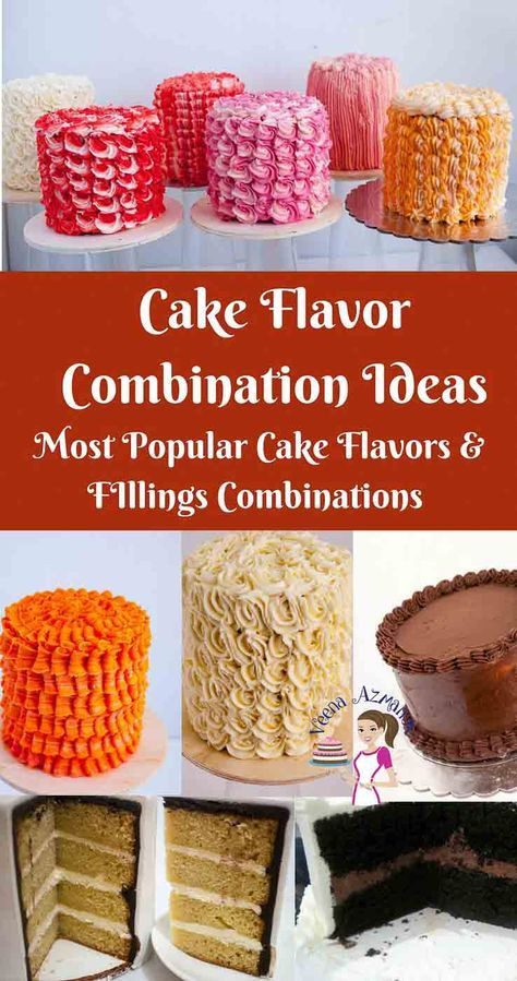 Wedding Cakes Flavors Combinations  Pairing the right cake flavors with the right filling and