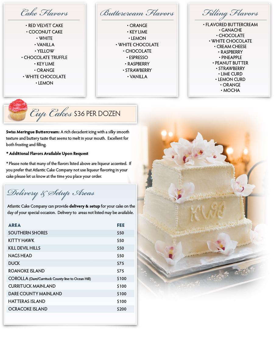 Wedding Cakes Flavors Combinations  wedding cake flavor recipe Different Types of Wedding