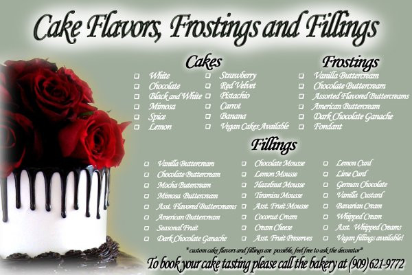 Wedding Cakes Flavors Combinations  wedding cake flavors and fillings
