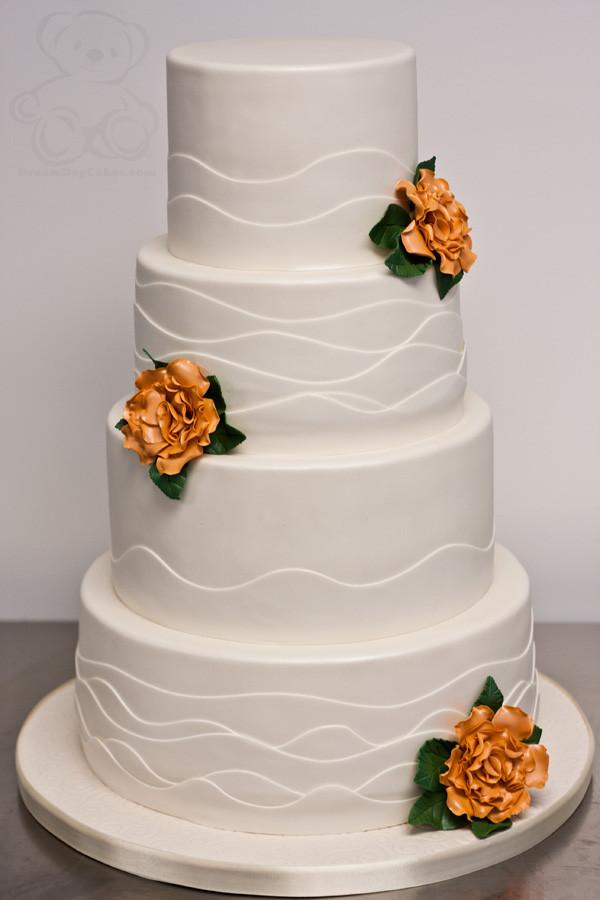 Wedding Cakes Florida  Clean Wave Wedding Cake Gainesville
