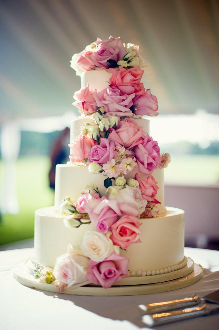 Wedding Cakes Flower  Real Roses Flower Wedding Cake Mega wedding