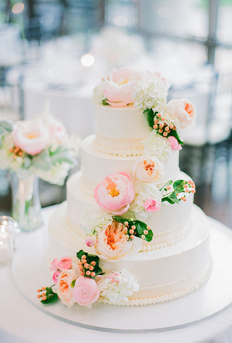 Wedding Cakes Flower  Spring Inspired Wedding Cake with Fresh Flowers