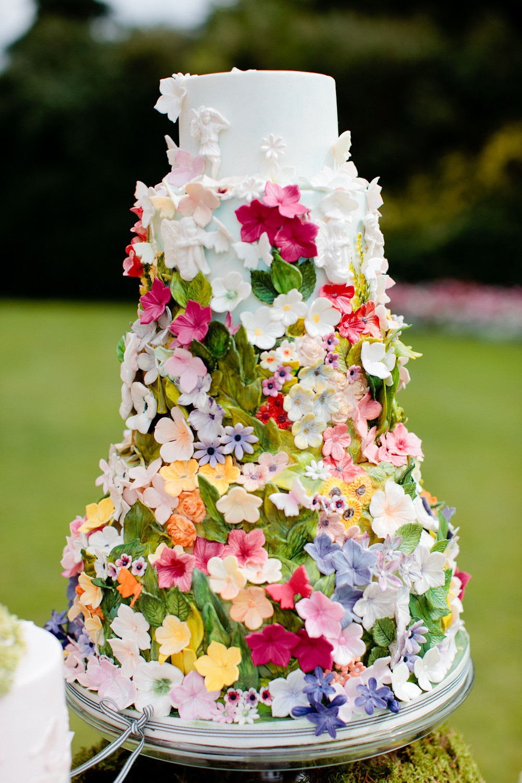Wedding Cakes Flower  10 Colorful Wedding Cakes