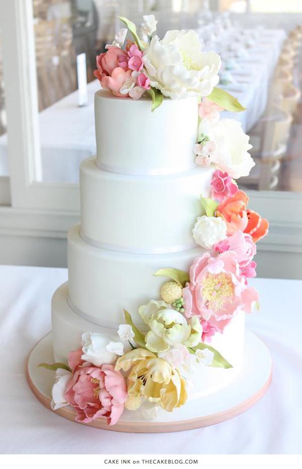 Wedding Cakes Flower  10 Flower Cakes for Spring