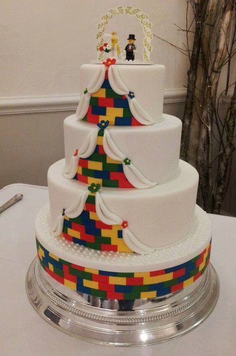 Wedding Cakes For 100 Guests  Lego Wedding Cake probably more the size that we re going
