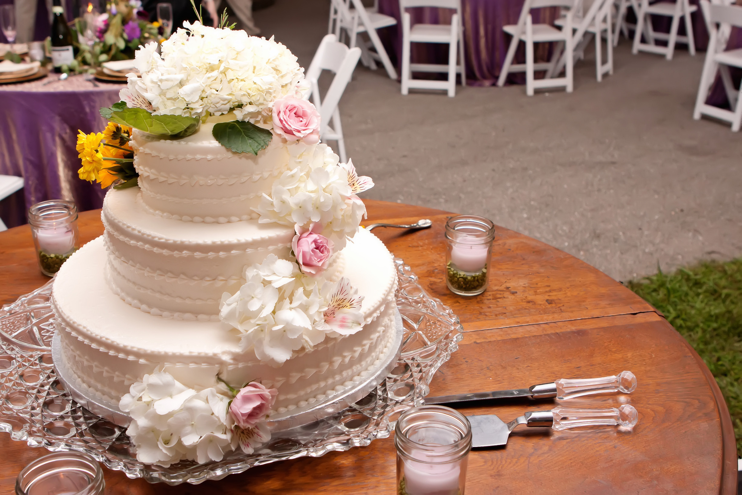 Wedding Cakes For 100 Guests  Maggie & Micah Lansford A Midwest Tent Wedding Kristin
