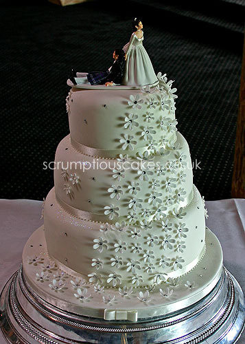 Wedding Cakes For 200 Guests  Wedding Cake 654 Daisy Cascade & Funky Topper