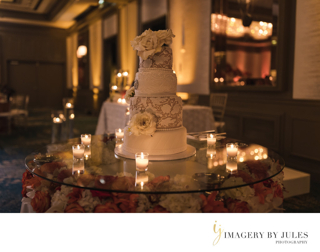 Wedding Cakes Fort Lauderdale  Candle lit Wedding Cake in Fort Lauderdale FL Imagery by
