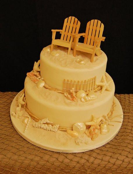 Wedding Cakes Fort Myers  Wedding2tierbeachchairshells9 Fort Myers
