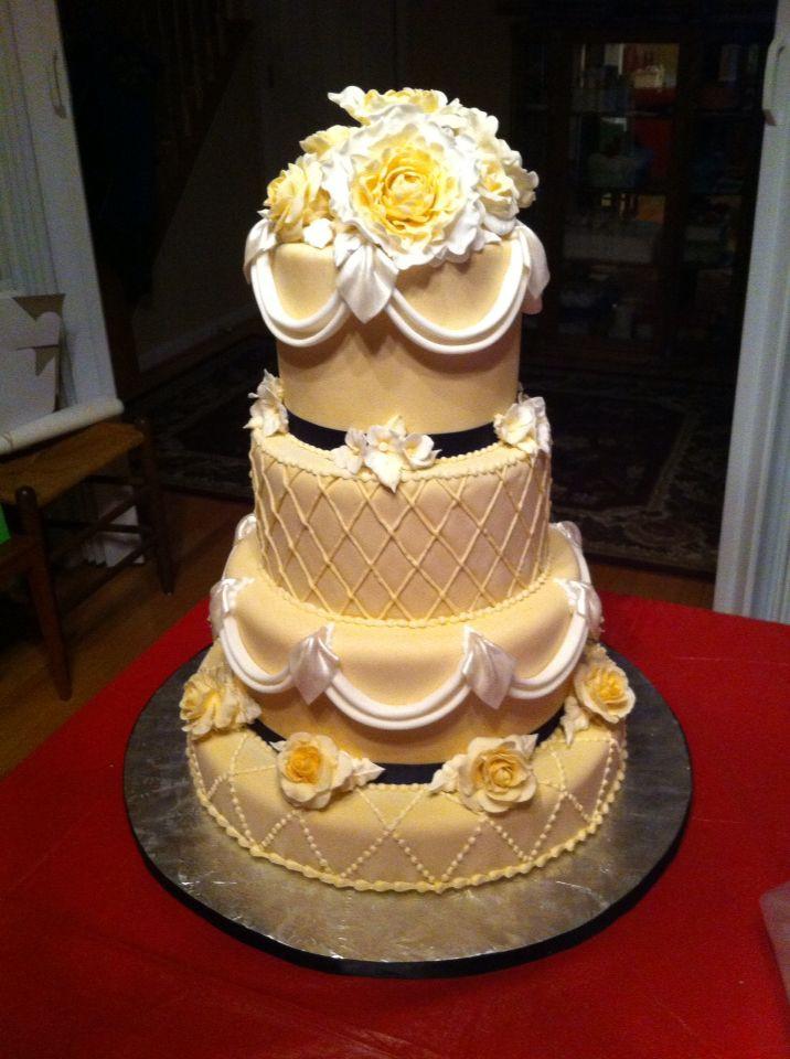 Wedding Cakes Fredericksburg Va  Wedding cake by Lizzie cakes of Fredericksburg VA